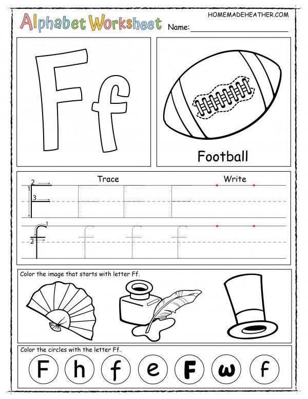 Letter F Printable Worksheet