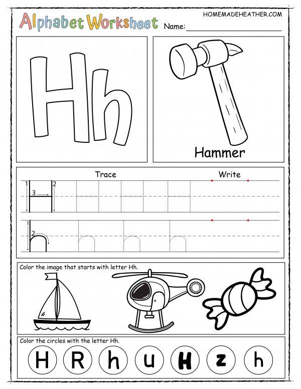 Letter H Printable Worksheet