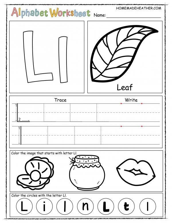 Letter L Printable Worksheet