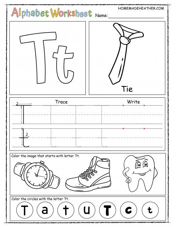 Letter T Printable Worksheet