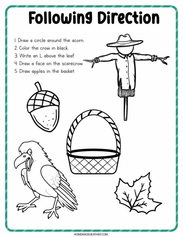 Free Printable Scarecow Coloring Pages