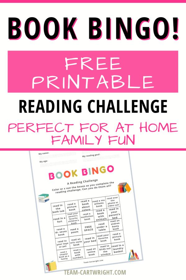 Reading Challenge Bingo Printable