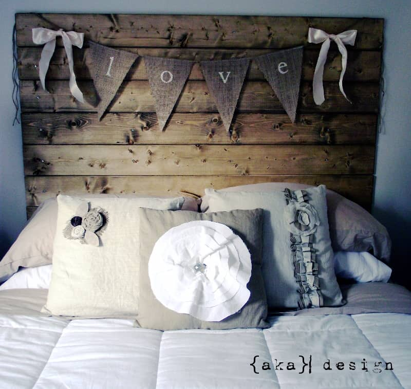 How To Make A Reclaimed Wood Headboard With New Wood For Less Than 50