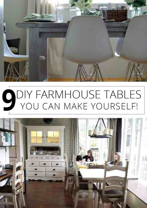 9 DIY Farmhouse Tables That You Can Make Yourself