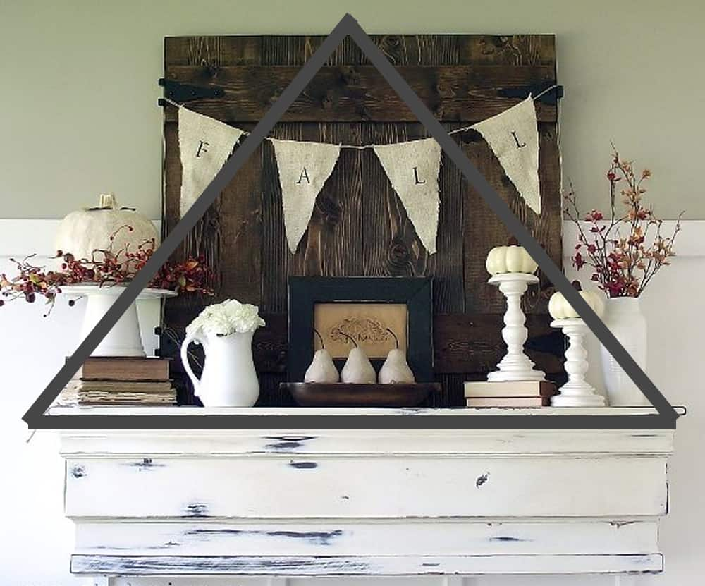 fall mantel with triangle