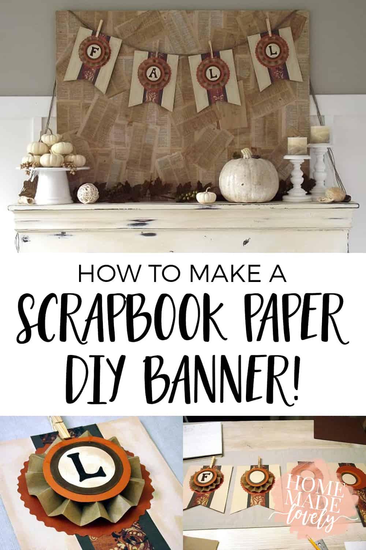how to make a scrapbook paper diy banner