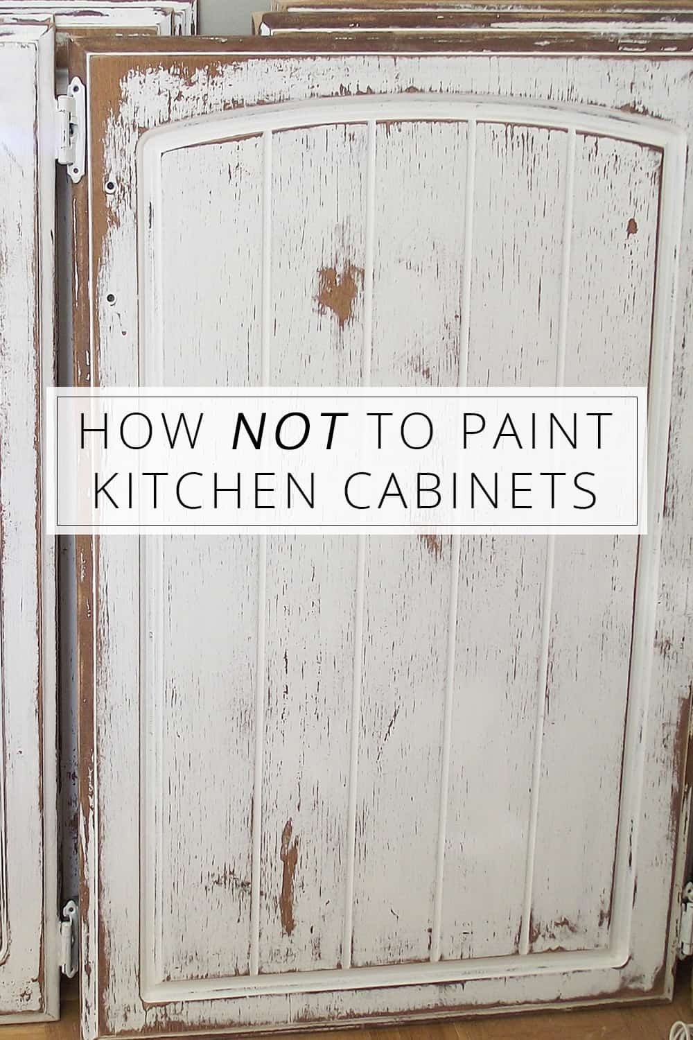 How not to paint kitchen cabinets