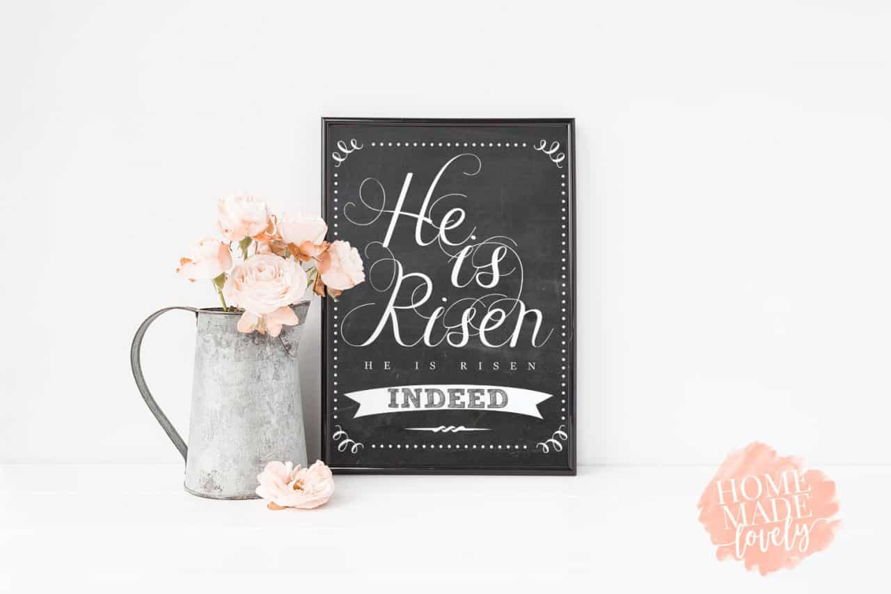 picture about He is Risen Printable identify He Is Risen Easter Printable