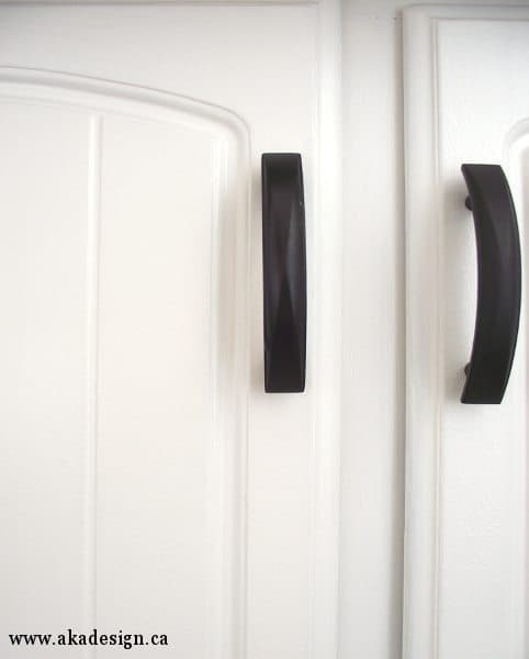 white painted kitchen cabinet door
