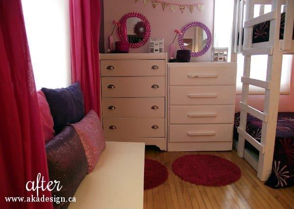 white wood dressers girls room