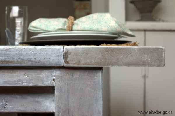 aka design farmhouse table side detail