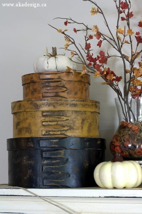 fall mantel shaker boxes