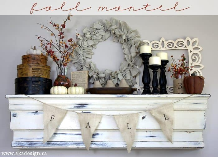 fall mantel with title