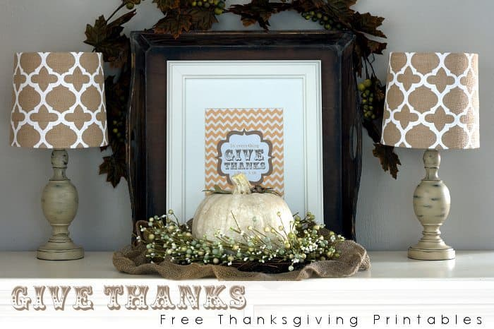 give thanks free thanksgiving printables title