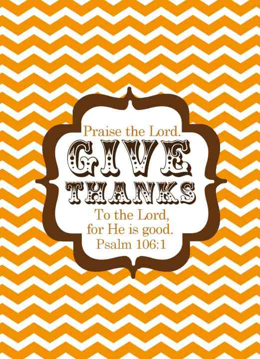 give thanks to the lord fall printable