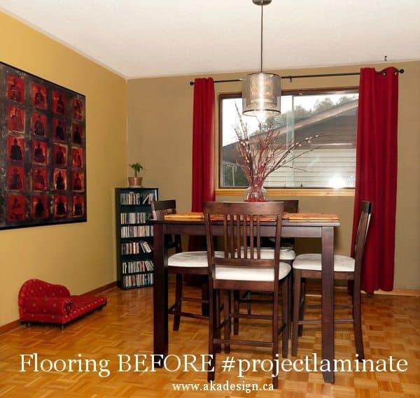 dining room flooring before