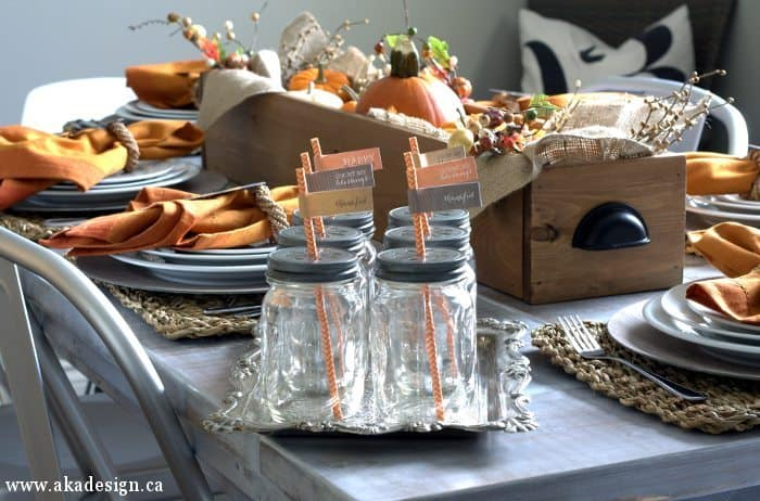 fall table setting decorations