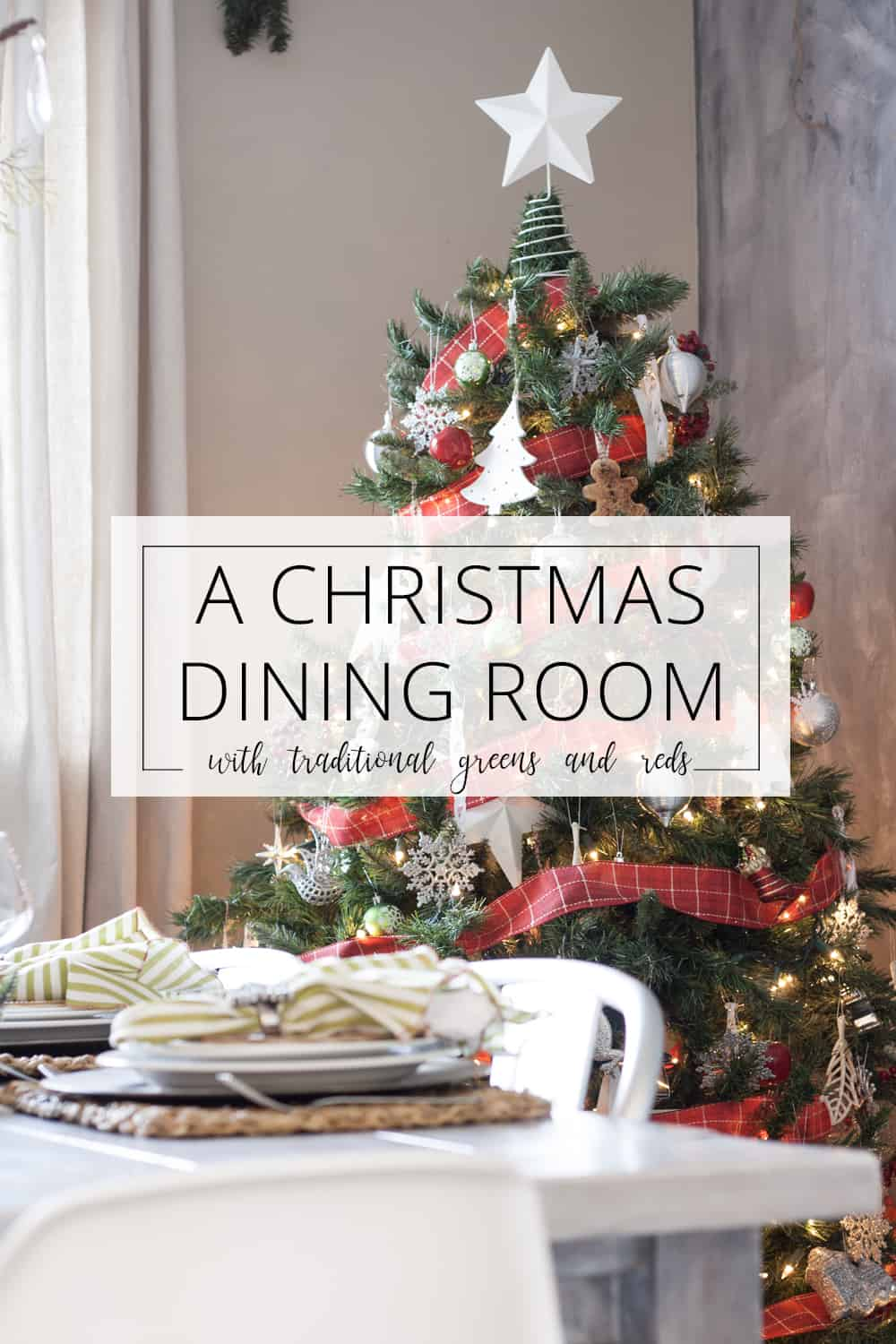 a christmas dining room