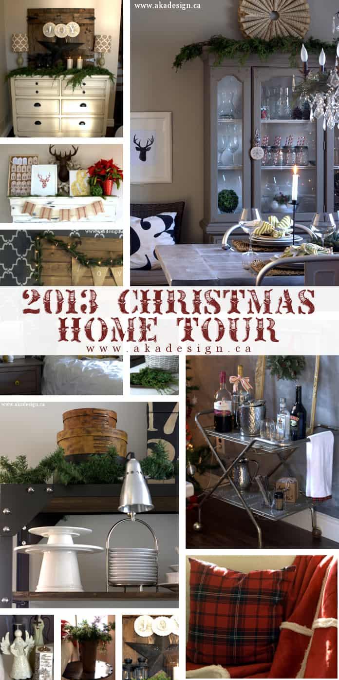 aka design christmas home tour collage