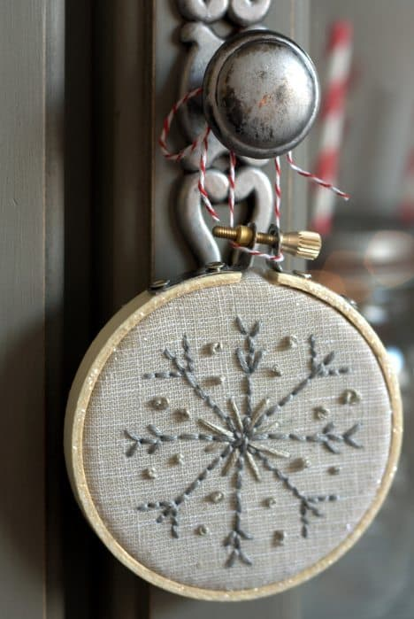 embroidery hoop ornament detail