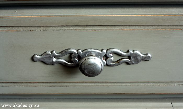 grey hutch handle knob detail