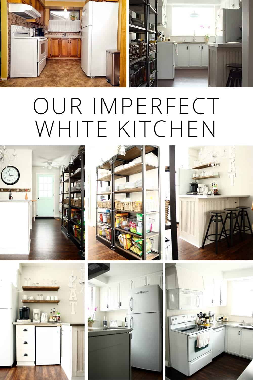 Our Imperfect White Kitchen