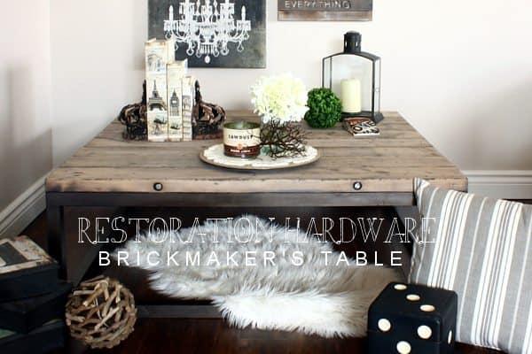 RH Inspired Brickmakeru0027s Table