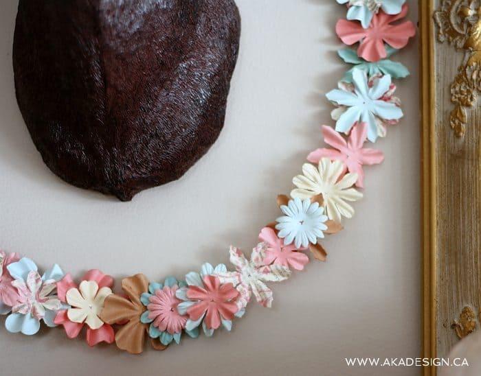 SPRING paper flower wreath detail