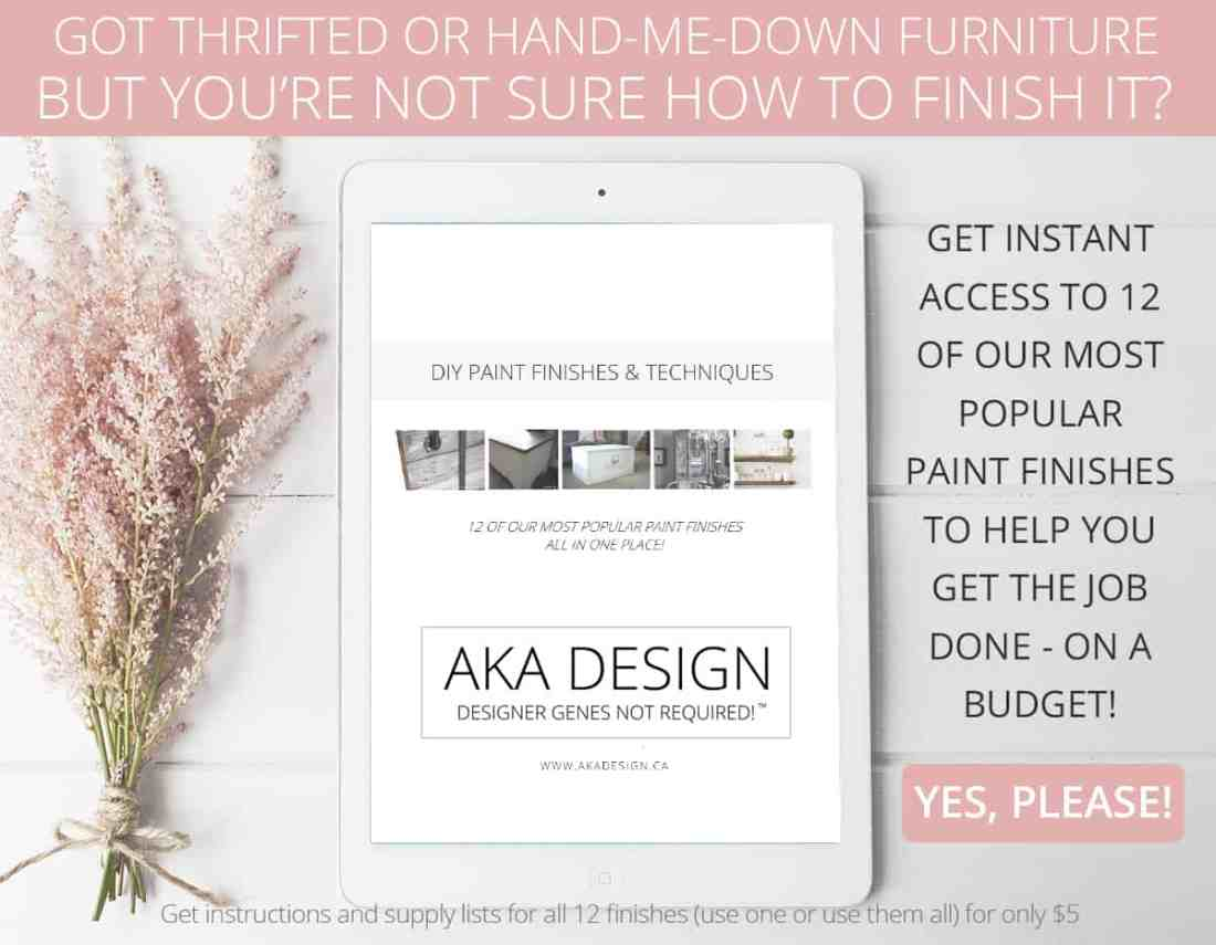 Home Made Lovely Paint Finishes eBook ad