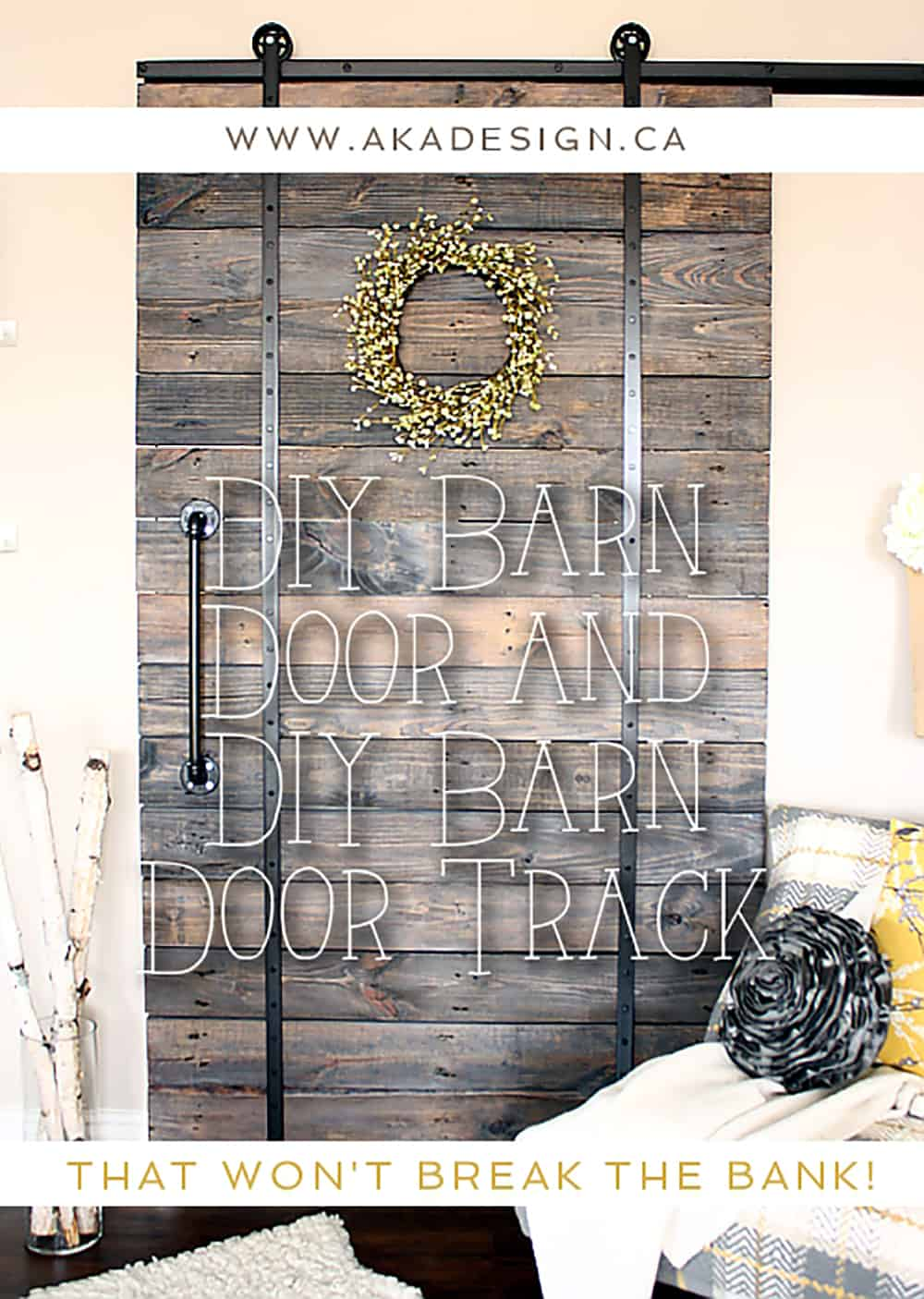 DIY BARN DOOR AND DIY BARN DOOR TRACK THAT WON'T BREAK THE BANK