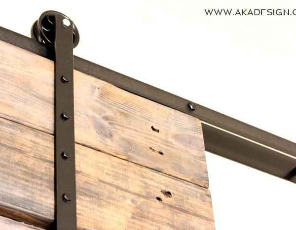 DIY Barn Door and DIY Barn Door Track That Won't Break the Bank!