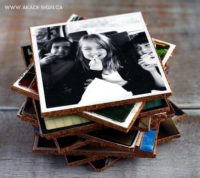 DIY CORK PICTURE COASTERS | www.akadesign.ca