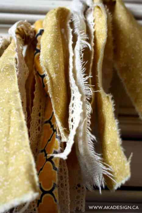 wedding rag bunting | www.akadesign.ca