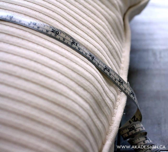 measure pillow form | www.akadesign.ca