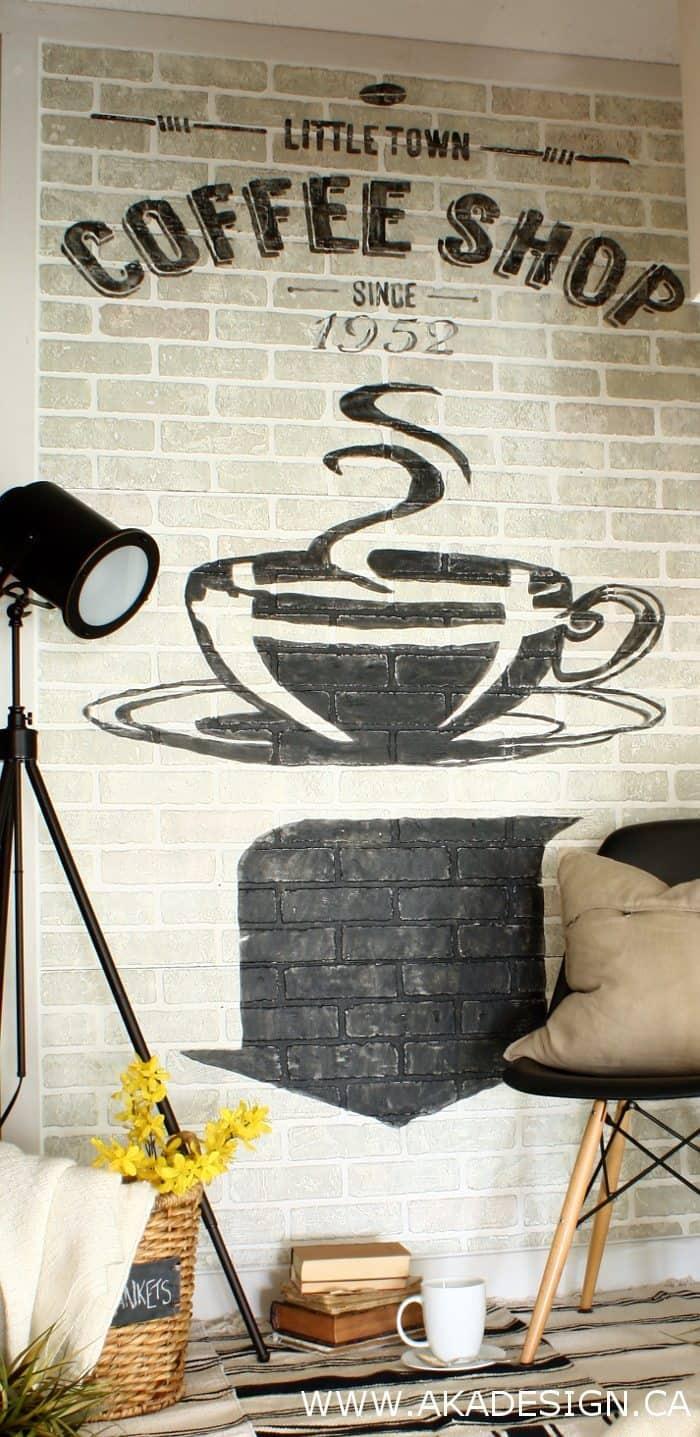 painted sign on brick | www.akadesign.ca