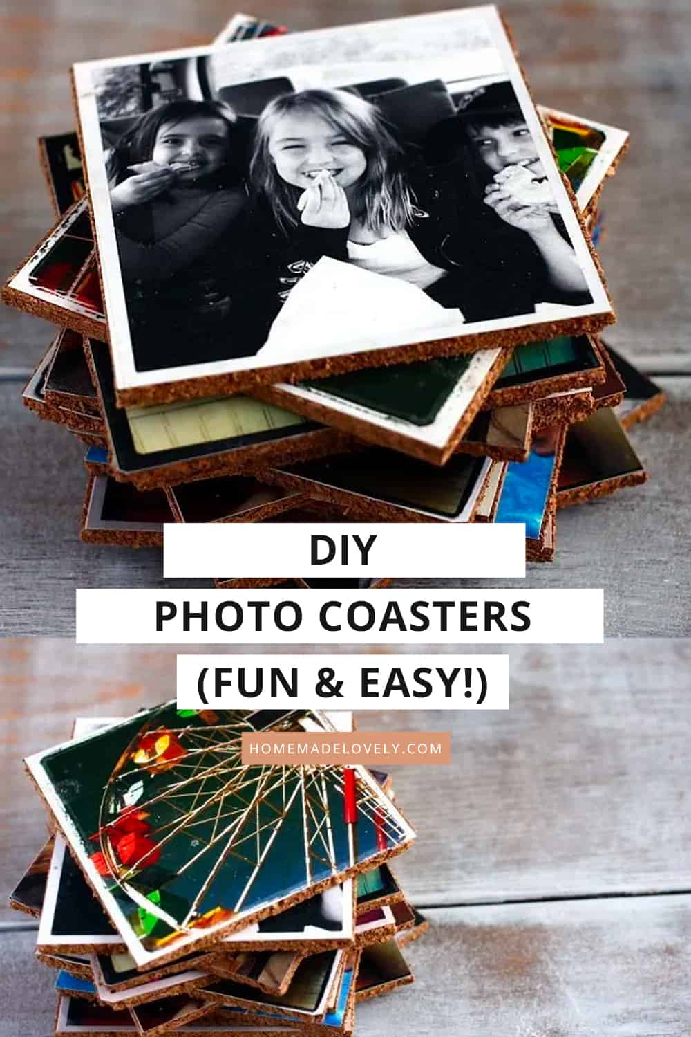 make your own picture coasters