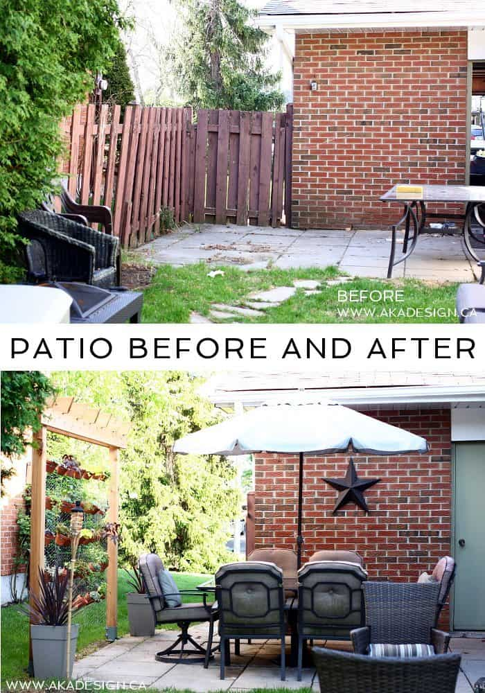 PATIO BEFORE AND AFTER | WWW.AKADESIGN.CA