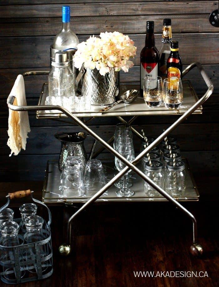 Thrift Store Bar Cart | www.akadesign.ca