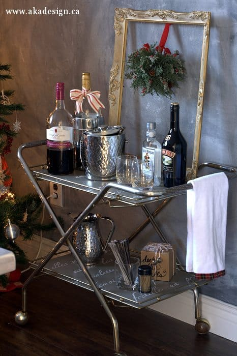 bar cart after