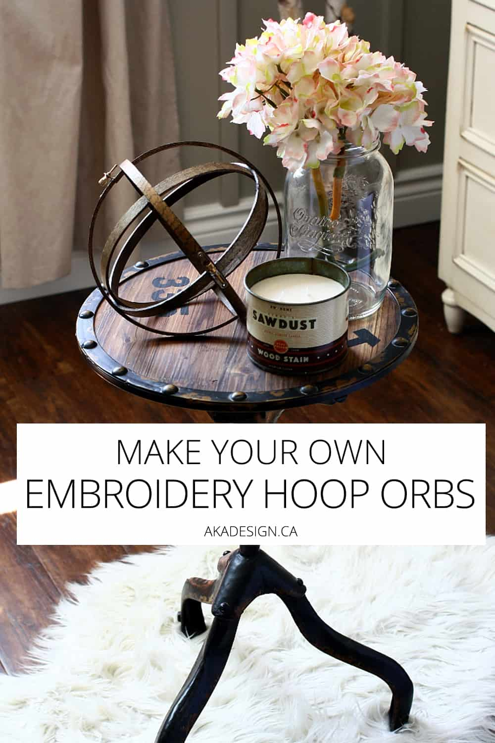 I love the look of wooden orbs and these make your own embroidery hoop orbs are super easy to make and cheap!