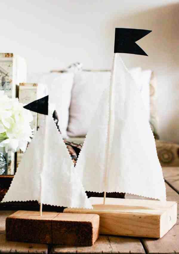 Quick and Cheap DIY Scrap Wood Sailboats