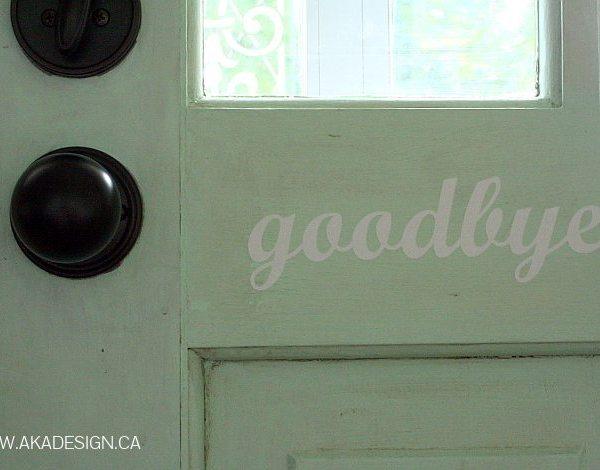 Goodbye Vinyl Door Decal