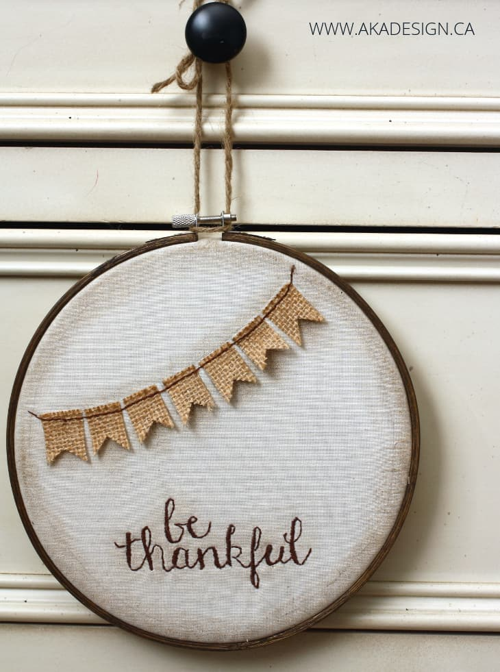 be thankful fall hoop art