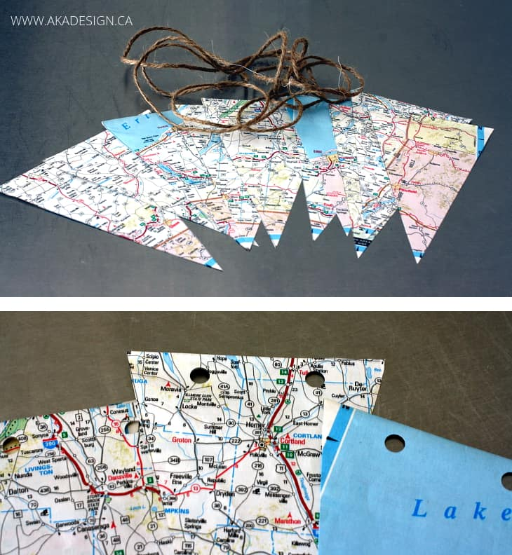cutting pennants and punching holes