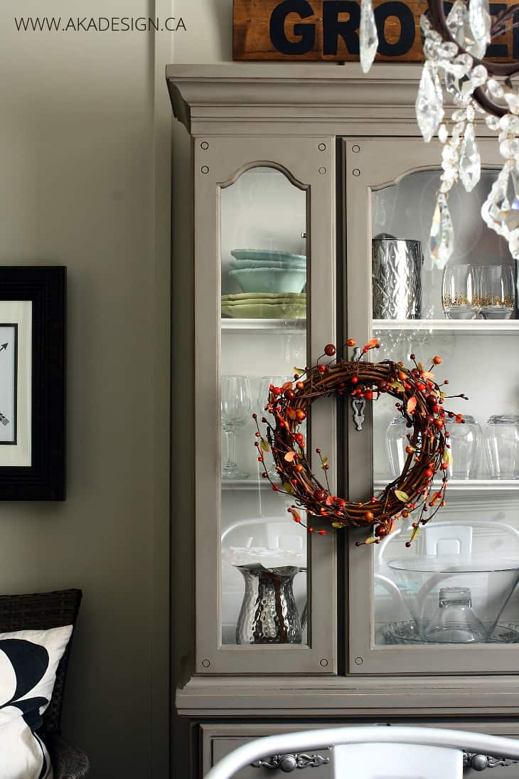 grapevine and berry garland wreath for fall