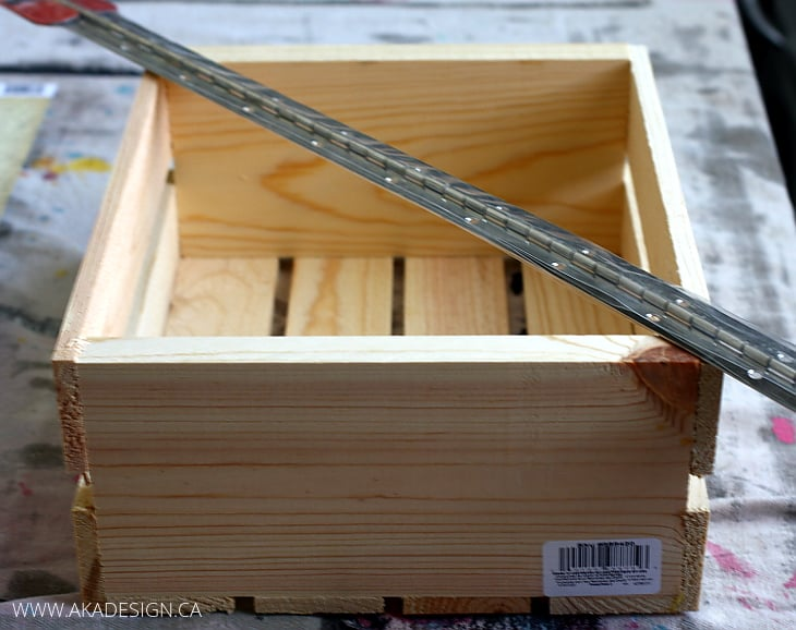 raw softwood craft crate