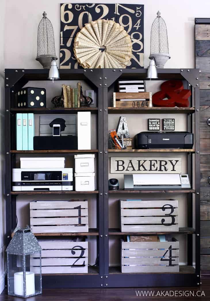 Office Shelves in Living Room