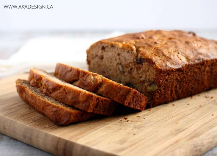 banana bread made with rice flour