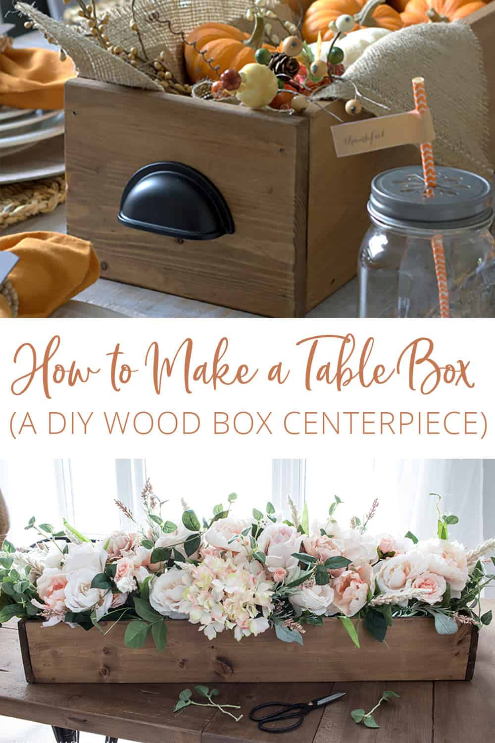 How to Make a Table Box | A DIY Wood Box Centerpiece