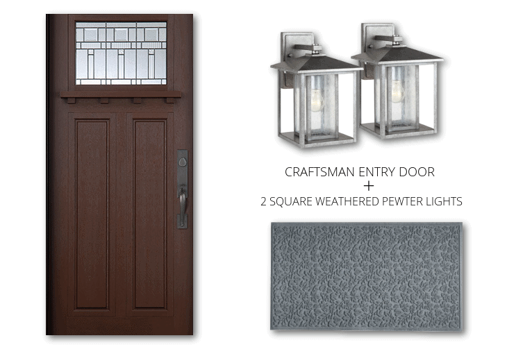 CRAFTSMAN SINGLE DOOR PEWTER MAT